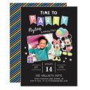 mickey & minnie | time to party - photo invitation