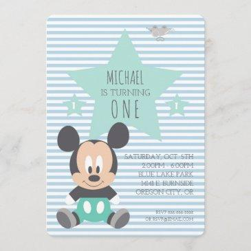 mickey mouse | first birthday invitation