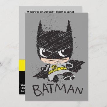 mini classic batman sketch invitation