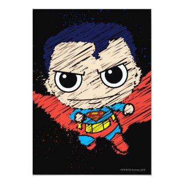 mini superman sketch invitation
