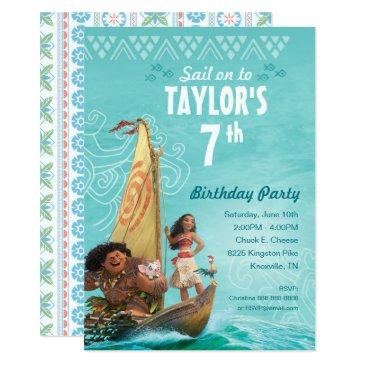 moana | oceania birthday invitations