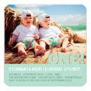 modern big one fun baby twins photo first birthday invitation