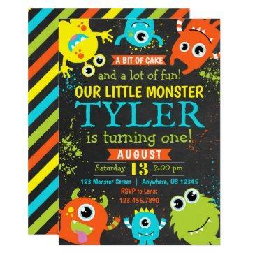 monster 1st birthday party invitation