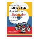monster truck 6th birthday invitation