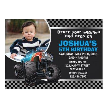 monster truck birthday invitation