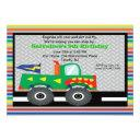 monster truck with teeth birthday invitation