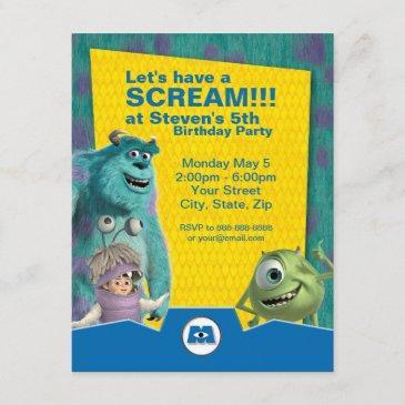 monsters, inc. birthday invitation