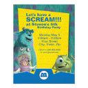 monsters, inc. birthday invitations