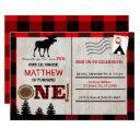moose lumberjack birthday invitation postinvitations