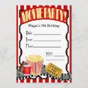 movie night any occasion fill-in party invitation