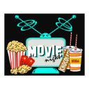 movie night birthday party celebration invitation