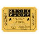 movie party invitation