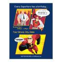 mr. incredible birthday invitations
