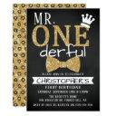 mr. onederful 1st birthday invitations