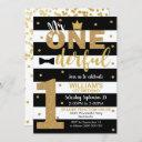 mr onederful invitation 1st birthday boy