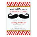 mustache boy birthday invitations