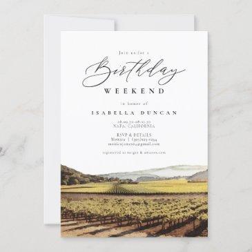 napa sonoma valley california winery birthday invitation