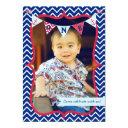 nautical first birthday boy photo party invitation