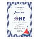 nautical sailboat first birthday invitations