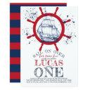 nautical sailor first birthday invitation