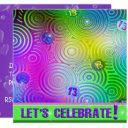 neon bright 13th birthday invite