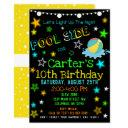 neon glow in the dark pool party invite