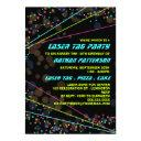 neon lights laser tag birthday party invitation