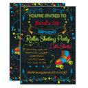 neon roller skate party invitation