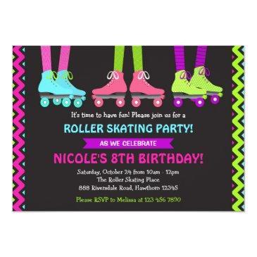 Roller Skating Birthday Invitations Birthdayinvitations4u