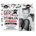 ninja birthday invitation karate birthday party