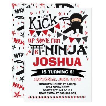 ninja birthday invitations karate birthday party