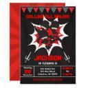 ninja birthday invitation, karate ninja party invitation