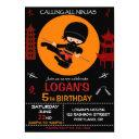 ninja birthday invitation ninja warrior invite