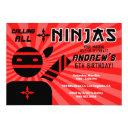 ninja birthday party invitation