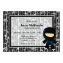 ninja birthday theme invitations