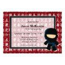 ninja birthday theme invitation