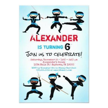 ninja invitation ninja boy birthday invite