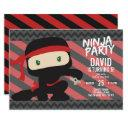 ninja party boy birthday karate invitation