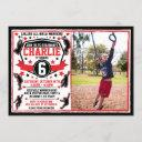 ninja warrior boys birthday photo invitation