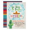 no time to siesta birthday invitations blue
