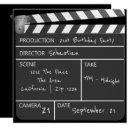 novelty personalized custom movie clapperboard invitation