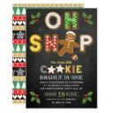 oh snap! gingerbread cookie any age birthday invitation