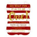 oh what fun christmas 1st birthday invitations red