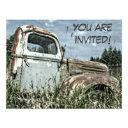 old truck retirement party or milestone birthday invitation
