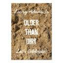 older than dirt birthday party invitation