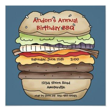 one juicy burger invitations