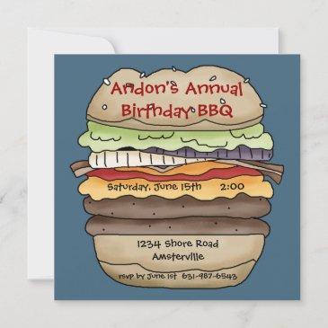 one juicy burger invitation