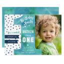 one watercolor | birthday party | invitations