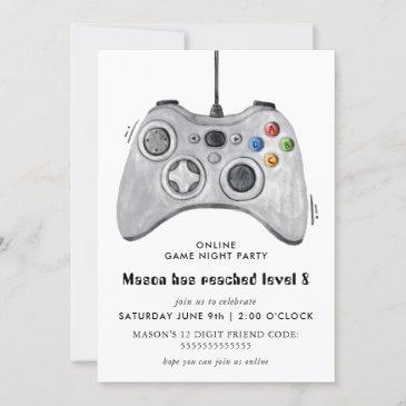 online video game birthday party invitation