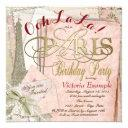 ooh la la vintage paris birthday party invitations